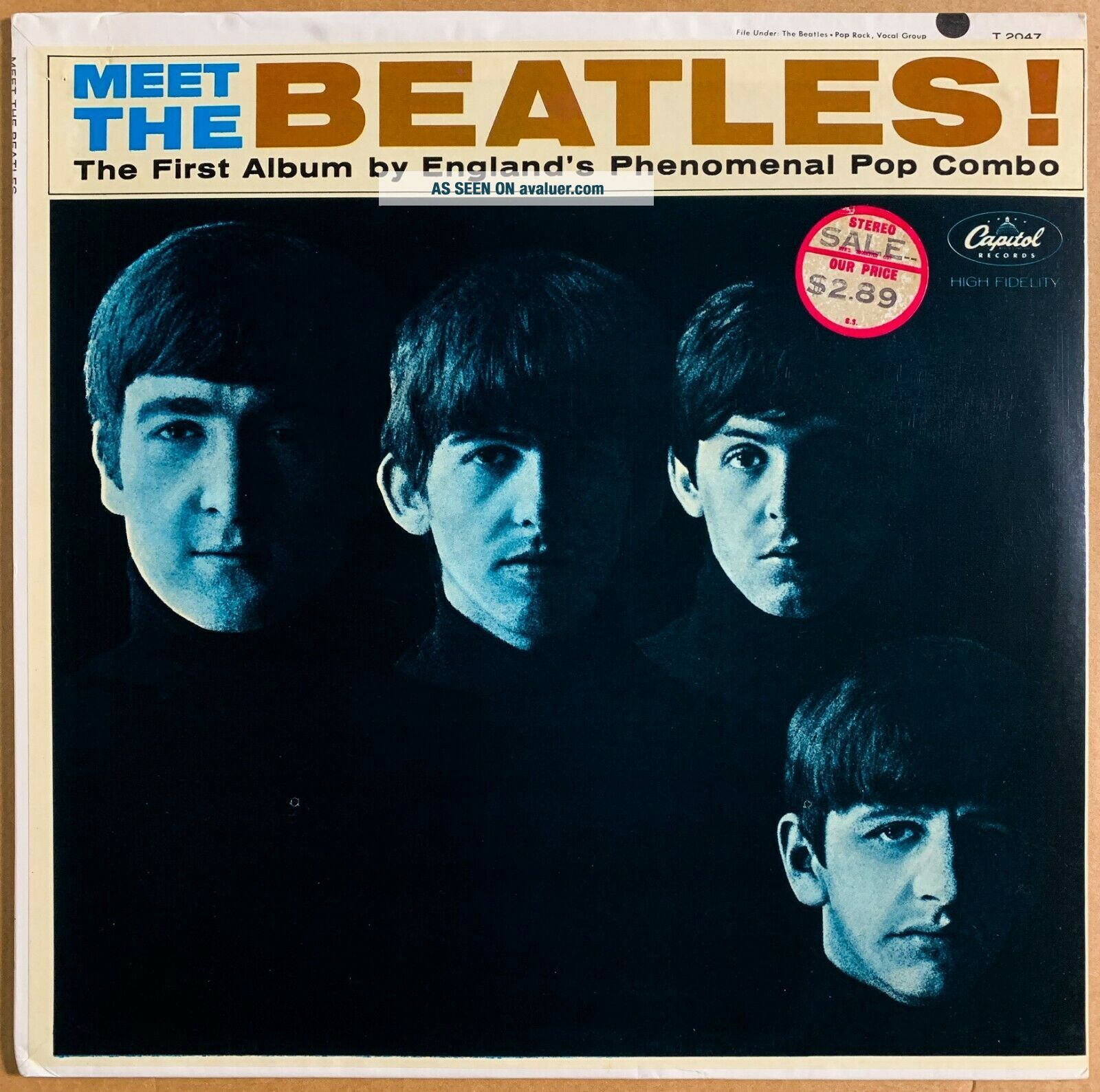 THE BEATLES MEET THE BEATLES US ORIG ' 64 CAPITOL MONO 1ST PRESS FACTORY