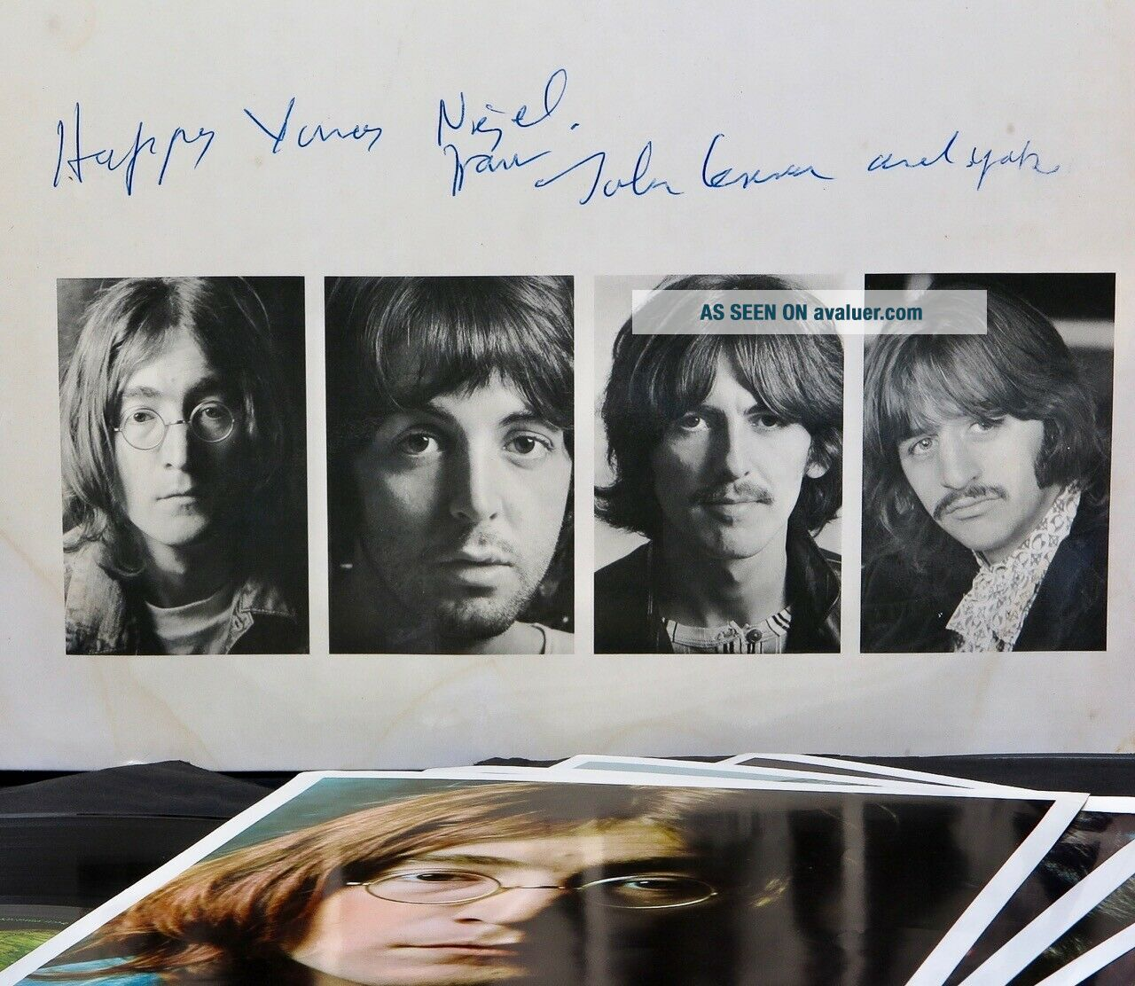 Beatles - UK White Album SIGNED BY JOHN LENNON 1968 1st Press 100 Geniune