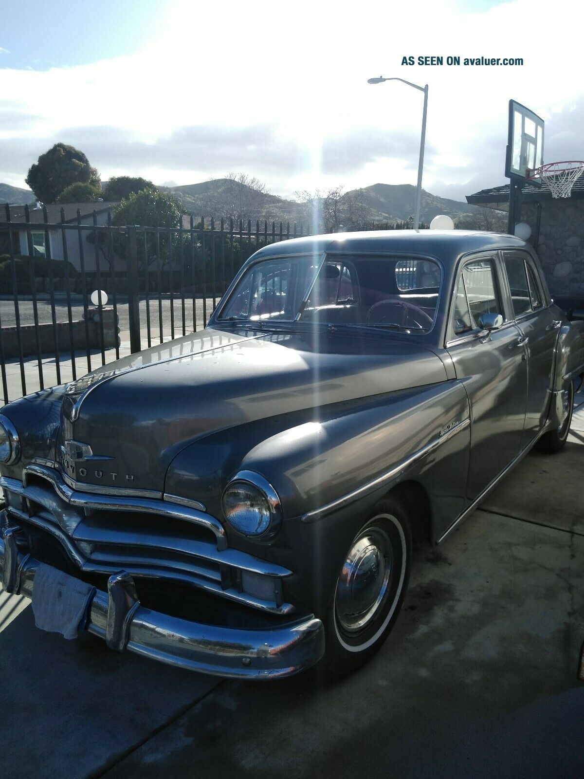 1950 Plymouth Special Deluxe 4 dr.  gray,  conv.  to 12 volt