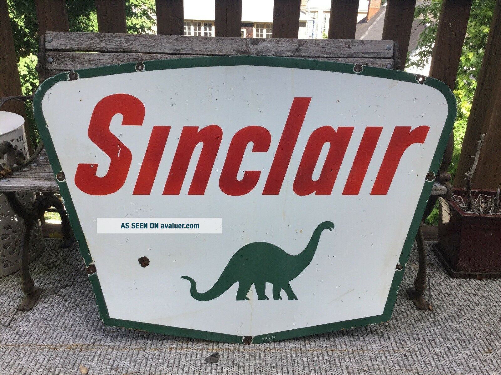 1961 Sinclair Double Sided Porcelain Sign