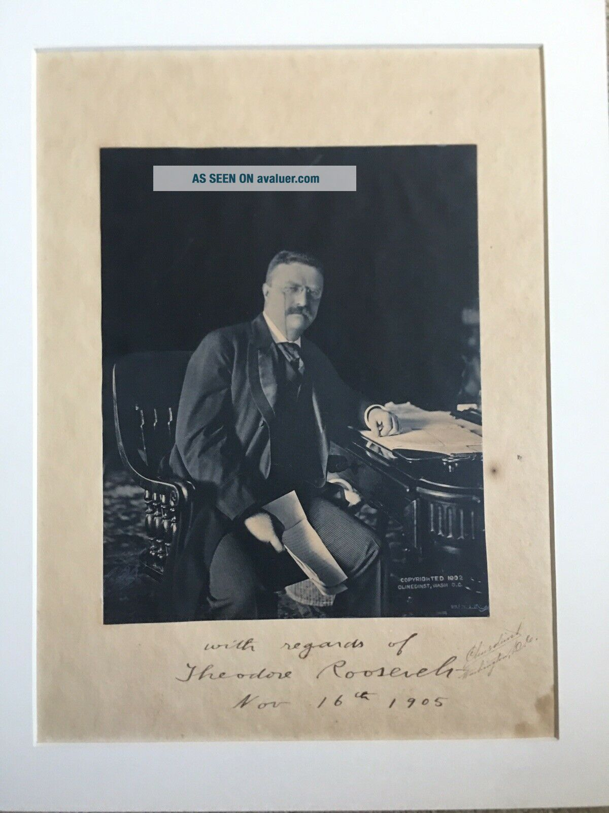 President Theodore Teddy Roosevelt Signed Autographed Photo Beckett Guaranteed