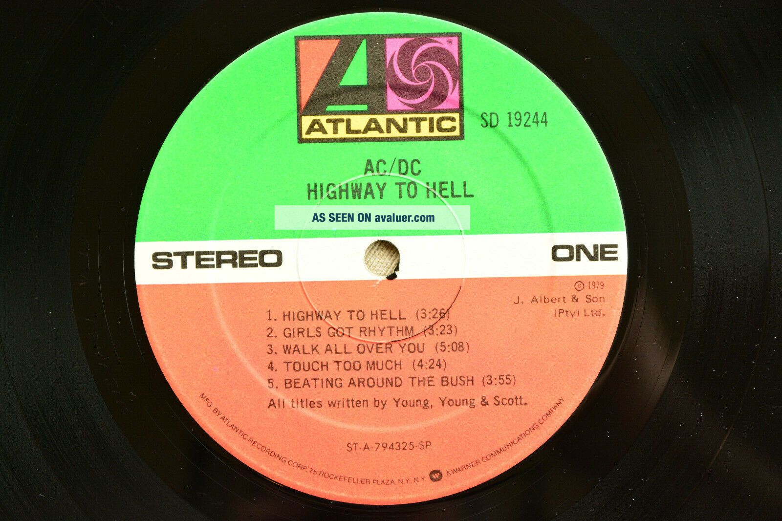 AC/DC Highway To Hell SD - 19244 Atlantic Records First ...