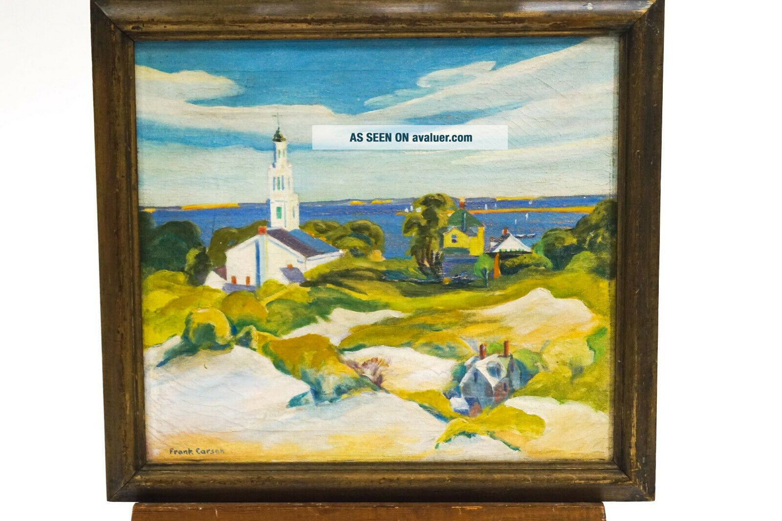 American Provincetown Modernist Frank Carson Signed Oil - Prices to $5,  000