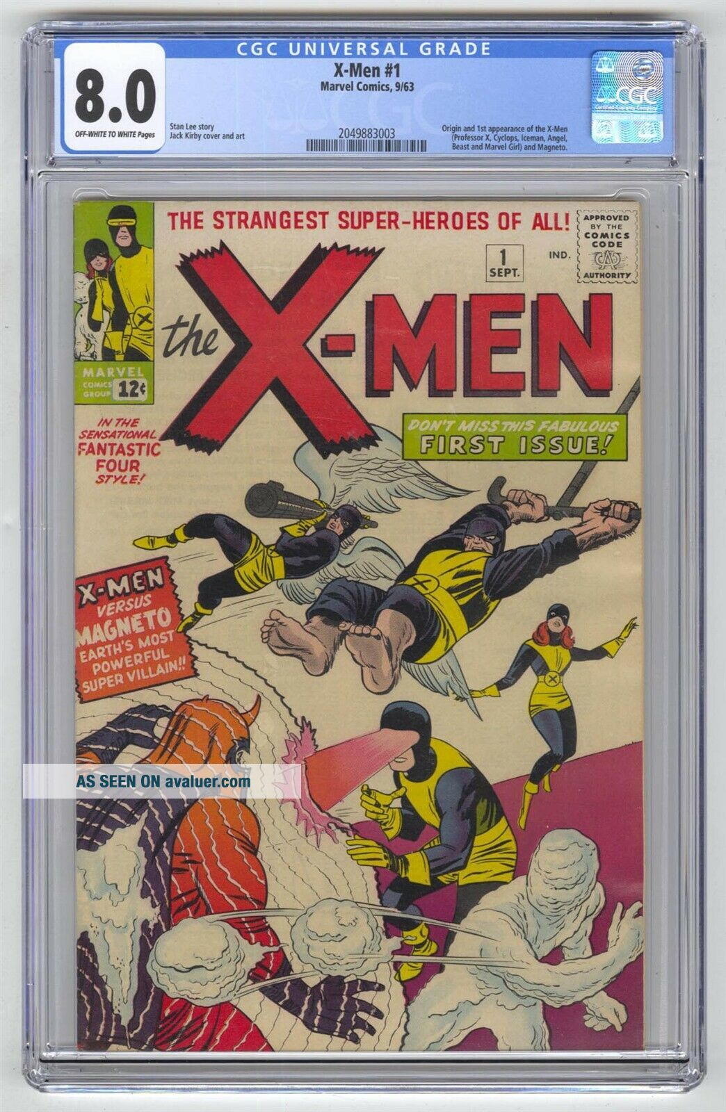 X - Men 1 CGC 8.  0 Marvel Comic MEGA KEY 1st Team & Magneto