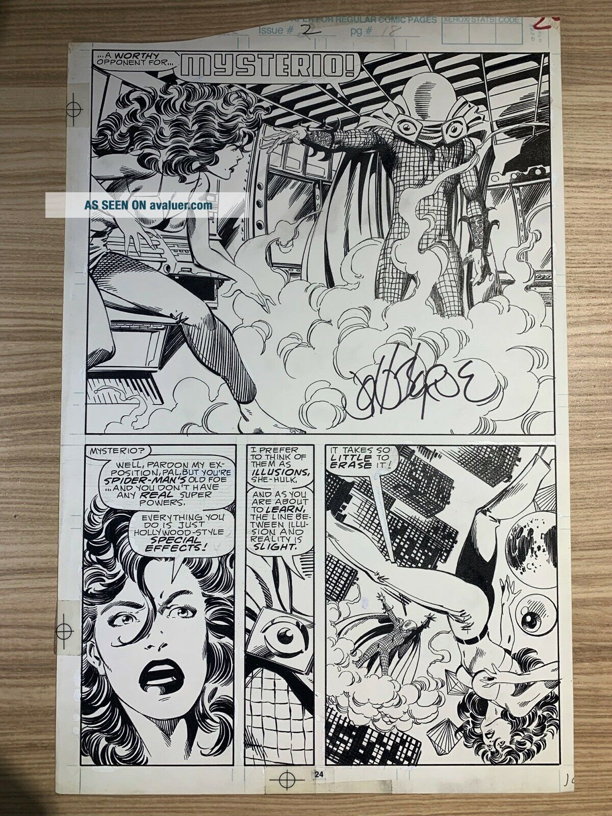 Sensational She - Hulk 2 Pg 18 Mysterio Published art by John Byrne