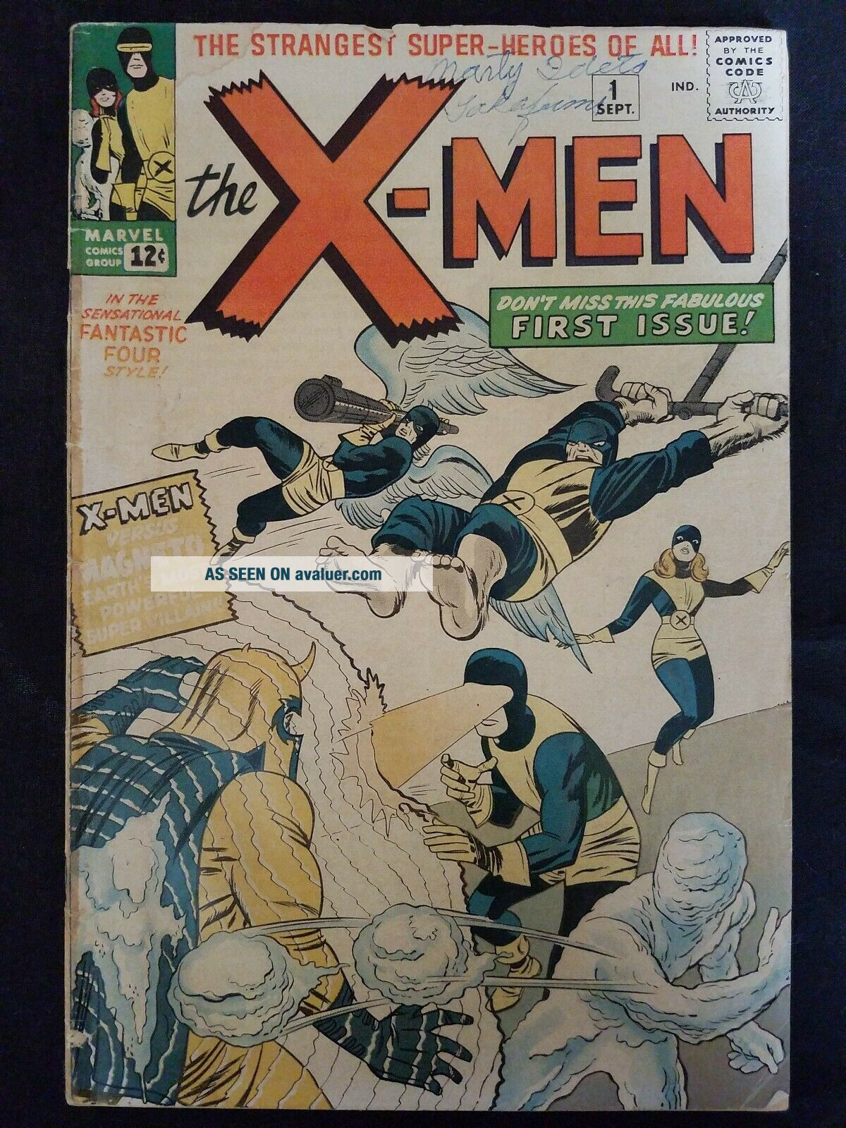 X - Men 1 Comic Book Silver Age 1963 First Appearance Of Magneto