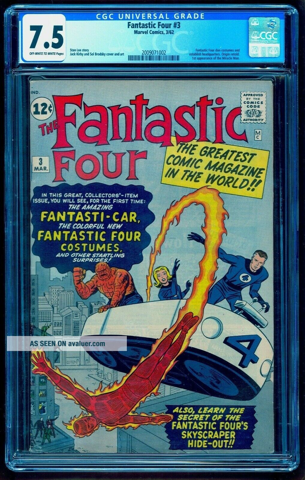 FANTASTIC FOUR 3 CGC 7.  5 BRIGHT COLORS NO MARKS OR STAMPS MCU MOVIE 2022