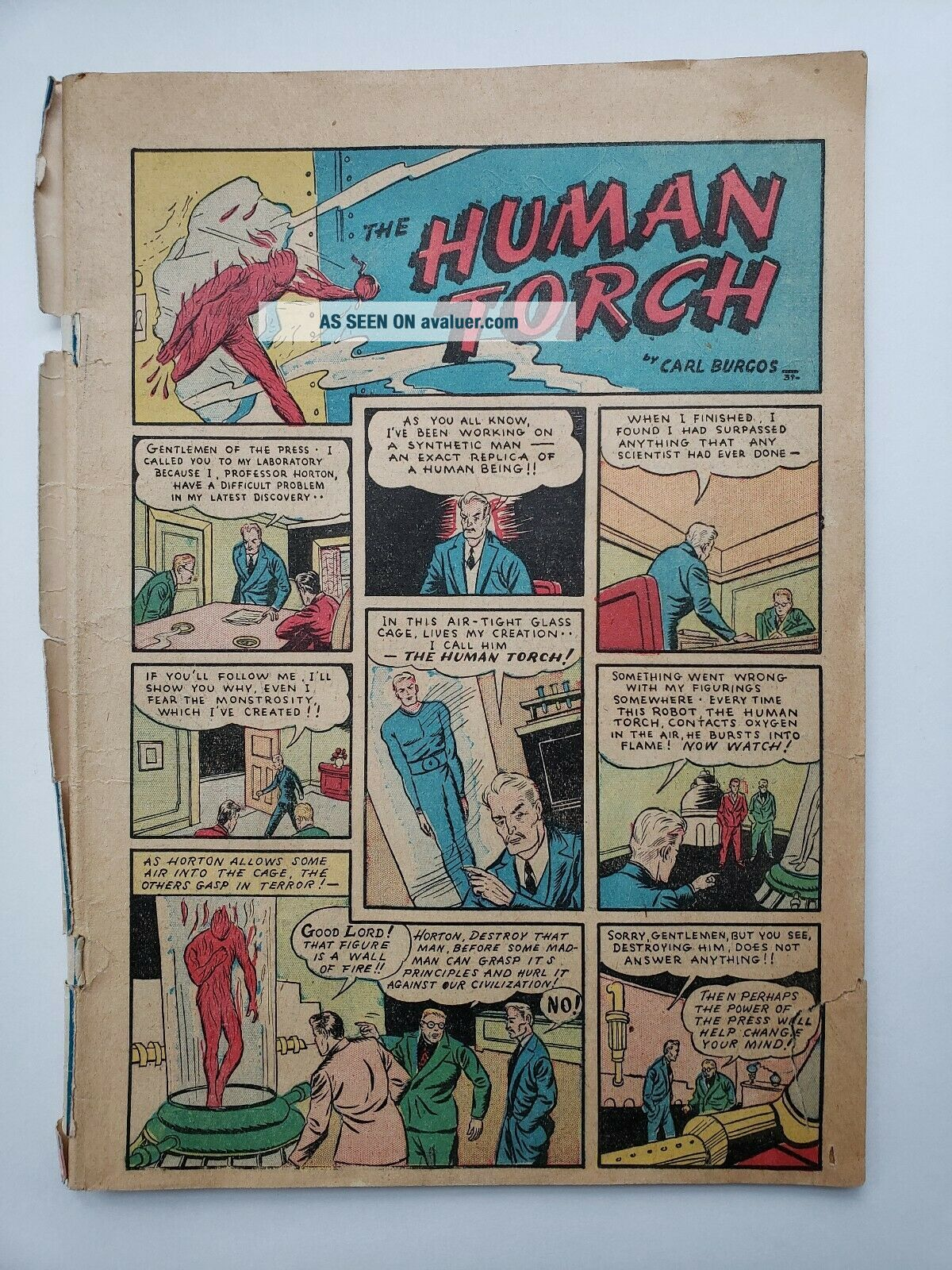 Marvel Comics 1 - 1939 - - Human Torch/Sub - Mariner/Namor/Mask Raider