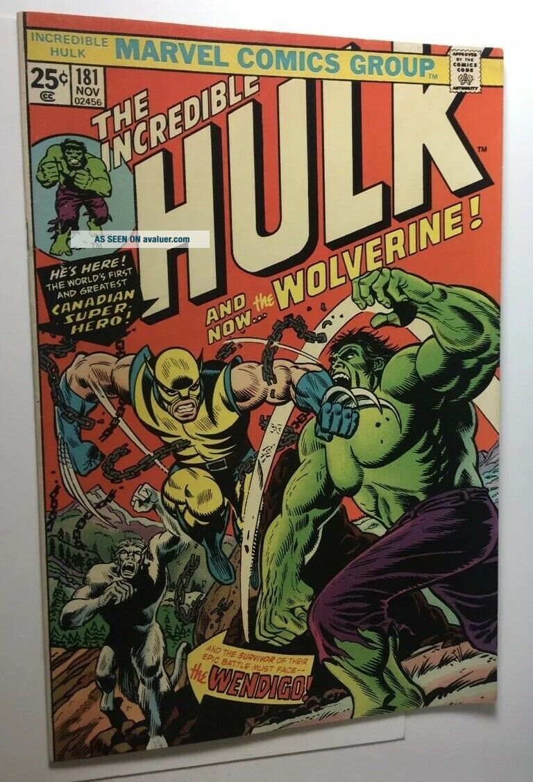 Incredible Hulk 181 With Marvel Value Stamp.  See Pictures