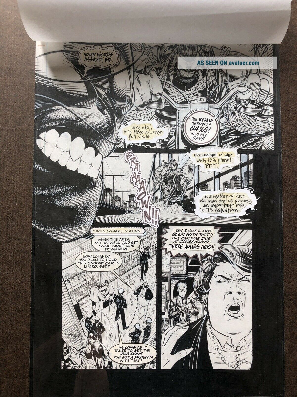 Pitt 1 Art Page By Dale Keown First Pitt Appearance