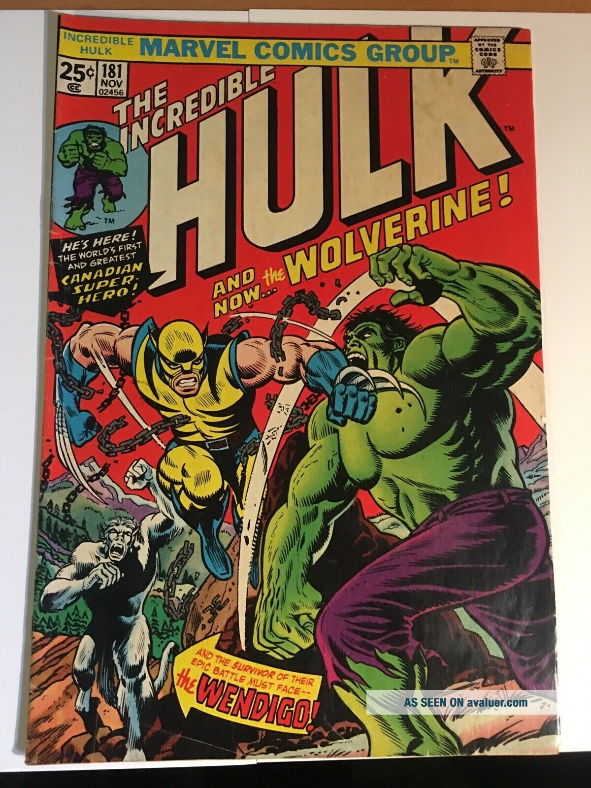 Incredible Hulk 181 With Marvel Value Stamp