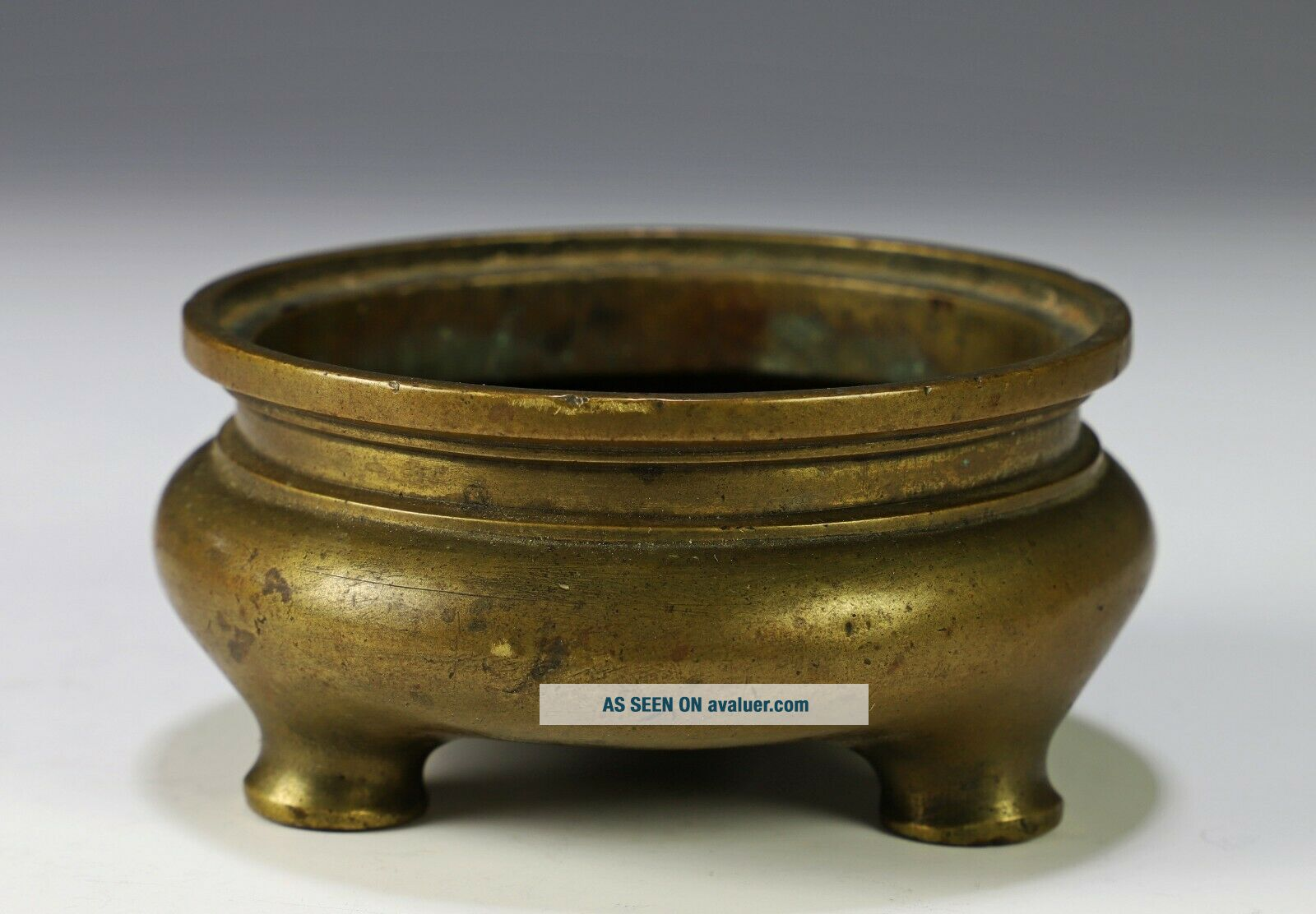 Antique Chinese Squat Form Bronze Censer with Xuande Mark