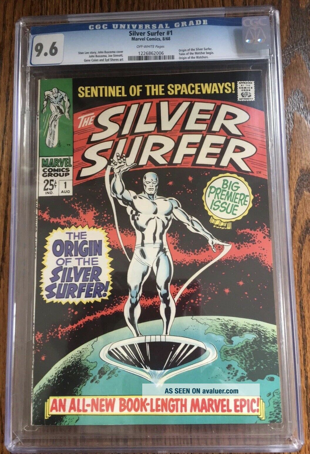 Silver Surfer 1 1968 Vol.  1 cgc 9.  6