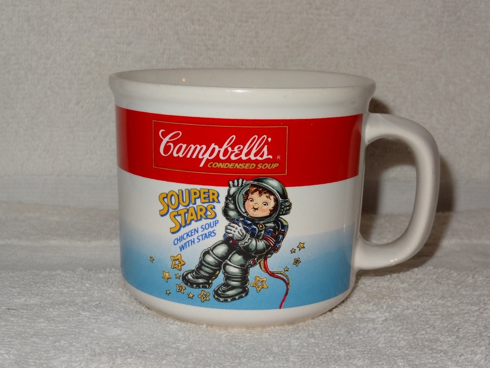 Campbell ' s Soup Souper Stars Chicken With Stars Mug - Boy Astronaut - 1990