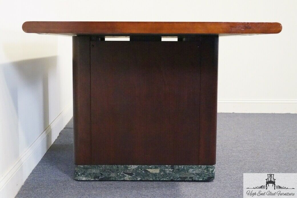 STOW DAVIS 76 Conference  Library Table w Green Granite Base